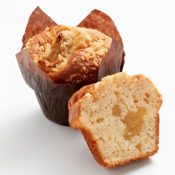Muffin fourré pomme-cannelle